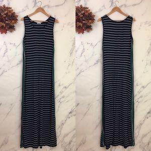 Max Studio Striped Jersey Knit Maxi Dress